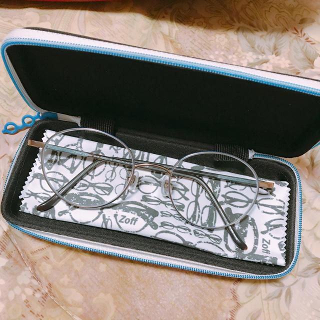 Zoff(ゾフ)のZoff 度入り丸メガネ レディースのファッション小物(サングラス/メガネ)の商品写真