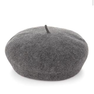 ムジルシリョウヒン(MUJI (無印良品))の今期 新品無印ベレー帽 グレー(ハンチング/ベレー帽)
