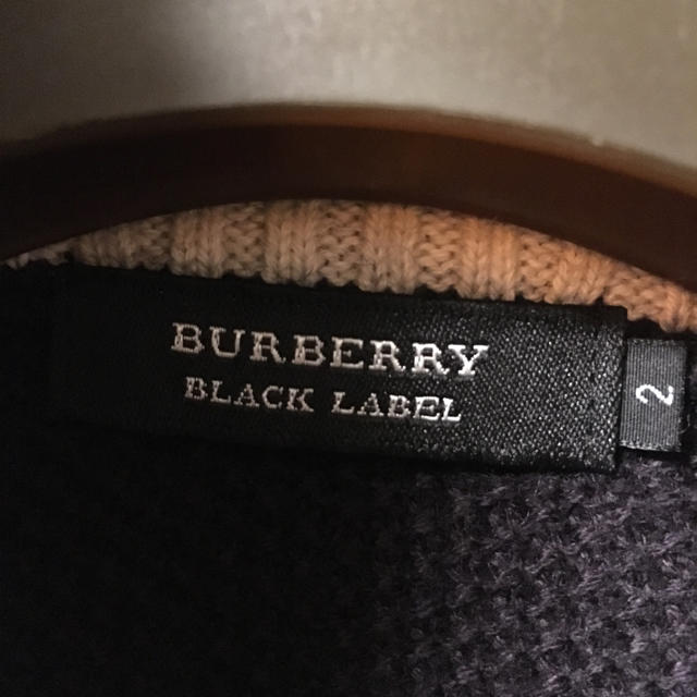 BURBERRY BLACK LABEL(バーバリーブラックレーベル)のバーバリーニットカーディガン メンズのトップス(ニット/セーター)の商品写真
