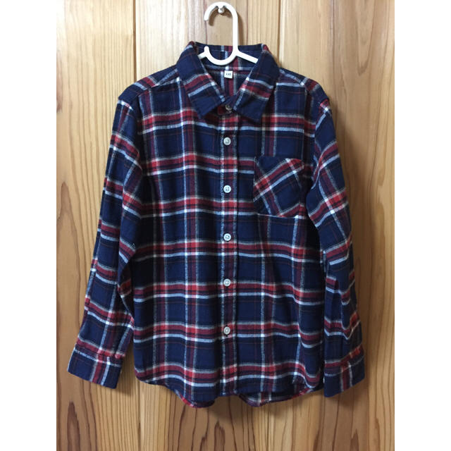 MUJI (無印良品)(ムジルシリョウヒン)の無印 フランネルシャツ キッズ 130cm キッズ/ベビー/マタニティのキッズ服 男の子用(90cm~)(Tシャツ/カットソー)の商品写真