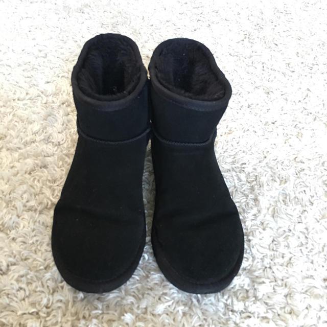 ムートンブーツ 黒 レディースの靴/シューズ(ブーツ)の商品写真