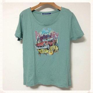 ジエンポリアム(THE EMPORIUM)のジ・エンポリアム♡車柄Tシャツ 淡緑(Tシャツ(半袖/袖なし))