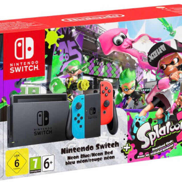 Nintendo Switch(ニンテンドースイッチ)の任天堂 ニンテンドウ スイッチ スプラトゥーン 2 本体 ソフト 即発 美品 エンタメ/ホビーのテレビゲーム(家庭用ゲーム本体)の商品写真