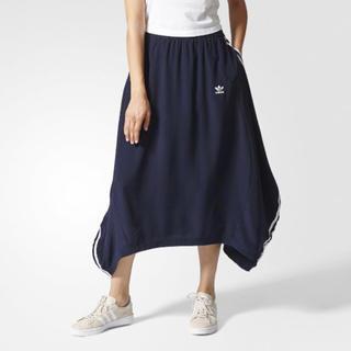 アディダス(adidas)のadidas 3ストライプ ロングスカート 完売品 (ロングスカート)