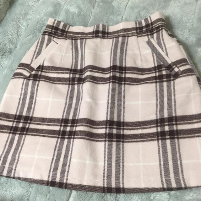 WEGO(ウィゴー)のピンクチェック柄 スカート レディースのスカート(ひざ丈スカート)の商品写真