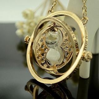 -ハリポタ ハーマイオニー ネックレス/逆転時計 タイムターナー(白砂)-(小道具)