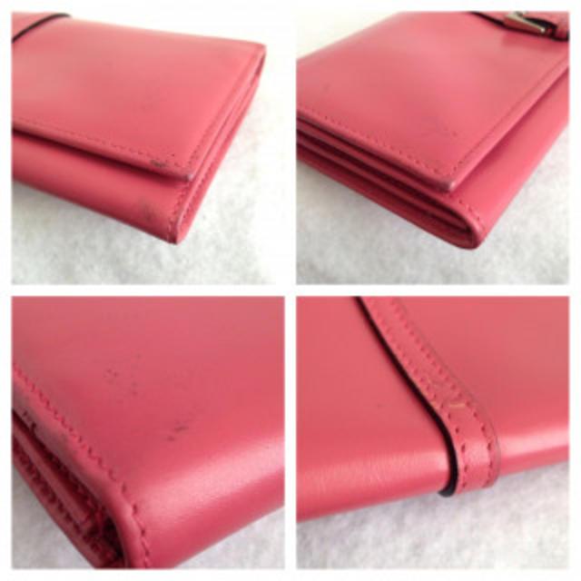 PRADA(プラダ)の【鑑定済】プラダ ホック付長財布 ピンク レディースのファッション小物(財布)の商品写真