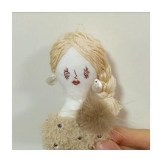 ハンドメイド 人形 ドールチャーム バッグチャーム キーホルダー(キーホルダー/ストラップ)
