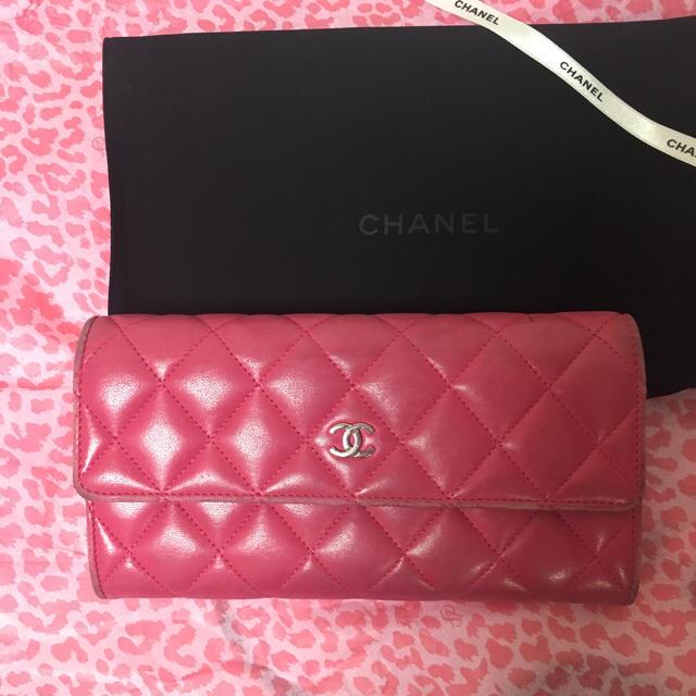 CHANEL(シャネル)のシャネルマトラッセ長財布ピンク レディースのファッション小物(財布)の商品写真