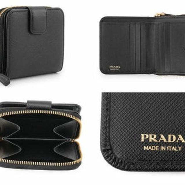 PRADA(プラダ)の本日のみ価格。 新品未使用 PRADA プラダ 折り畳み ミニ財布 正規品 レディースのファッション小物(財布)の商品写真