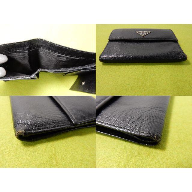 PRADA(プラダ)の★超特価 プラダ 三つ折り財布 ブラック レザー メンズ レディース(QB156 レディースのファッション小物(財布)の商品写真