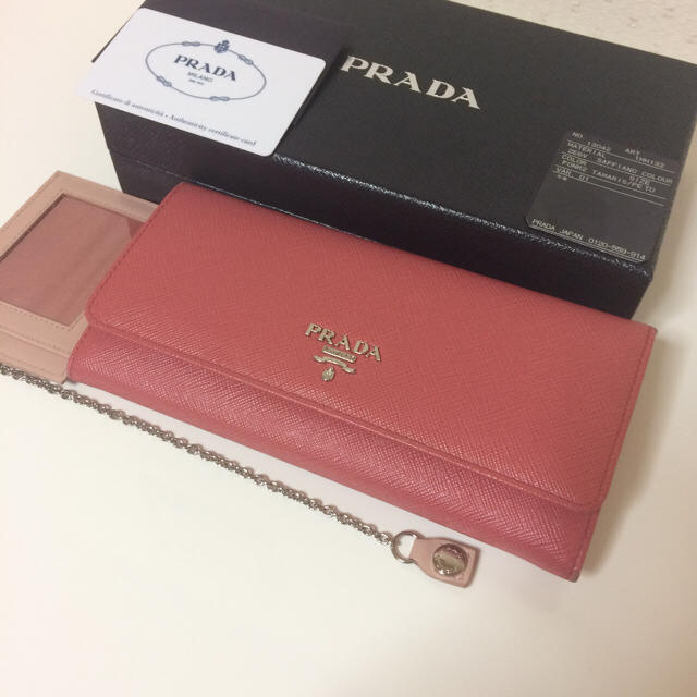 PRADA(プラダ)の16年購入 美品 プラダ サフィアーノ 長財布 ピンク 完品 レディースのファッション小物(財布)の商品写真