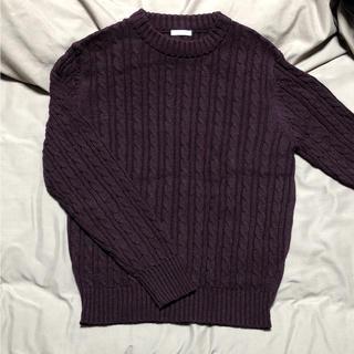 ニット 紫 柔らかなパープル(ニット/セーター)