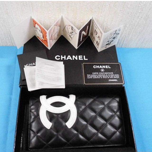 CHANEL(シャネル)のほぼ未使用 CHANEL カンボンライン 長財布 レディースのファッション小物(財布)の商品写真