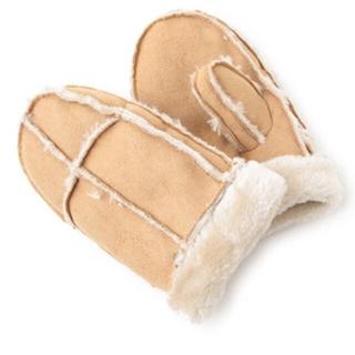 プティマイン(petit main)の新品 プティマイン フェイクムートンミトン(手袋)