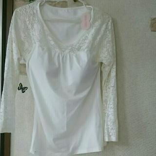 ジーユー(GU)の新品未使用✿*: 長袖レース シャツ ブラフィール(Tシャツ(長袖/七分))