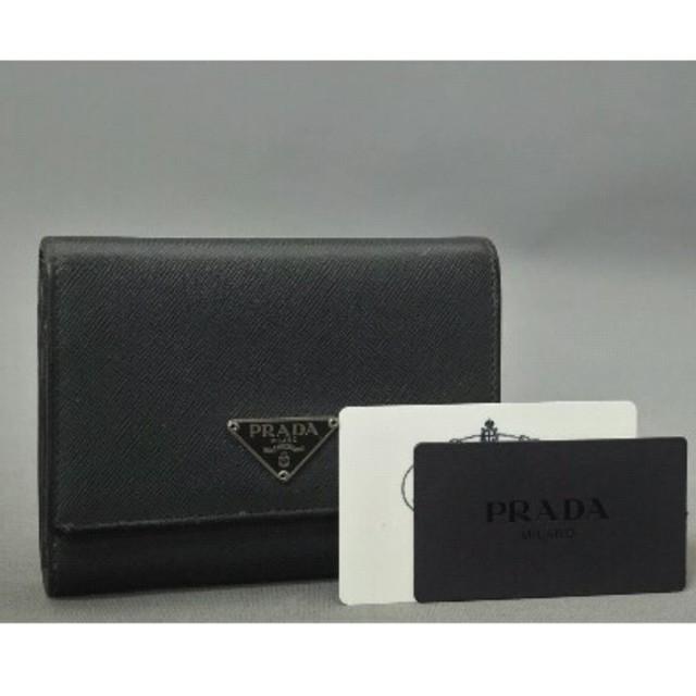 PRADA(プラダ)の正規購入品 PRADA 折り財布 サフィアーノレザー 状態良好 おしゃれ 早勝 レディースのファッション小物(財布)の商品写真