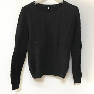 ムジルシリョウヒン(MUJI (無印良品))の新品❤︎ライトウールケーブル柄セーター 無印良品♪(ニット/セーター)