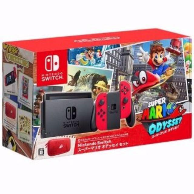 Nintendo Switch(ニンテンドースイッチ)の新品未開封 任天堂 スイッチ スーパーマリオオデッセイ 同梱版 エンタメ/ホビーのテレビゲーム(家庭用ゲーム本体)の商品写真
