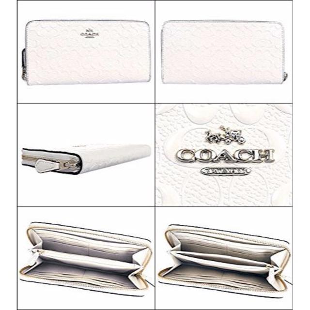 COACH(コーチ)のCOACH F54805 シグネチャー エンボスド レザー長財布 レディースのファッション小物(財布)の商品写真