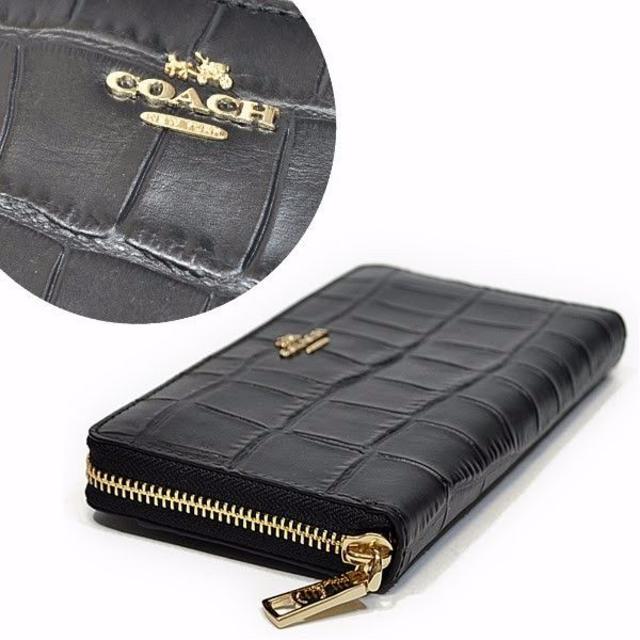 COACH(コーチ)のCOACH F52424 エンボスド クロコ調レザー 長財布 レディースのファッション小物(財布)の商品写真