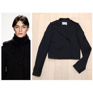 バレンシアガ(Balenciaga)の本物 バレンシアガ ショート丈 ジャケット Pコート 36 ブラック 黒(ピーコート)