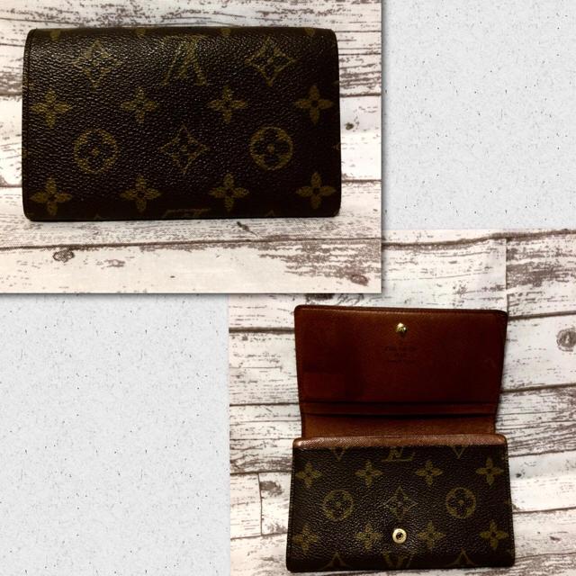 LOUIS VUITTON(ルイヴィトン)のlouis vuitton *モノグラム*二折り財布 レディースのファッション小物(財布)の商品写真