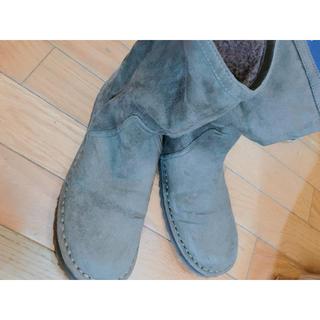 ムジルシリョウヒン(MUJI (無印良品))の無印良品のメンズ ボアブーツ カーキ色 Lサイズ24〜24.5cm(ブーツ)
