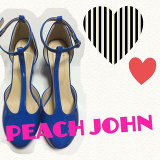 ピーチジョン(PEACH JOHN)のエナメルTストラップパンプス(ハイヒール/パンプス)