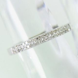 K18ホワイトゴールド ダイヤモンド リング[f55-3](リング(指輪))
