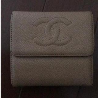 シャネル(CHANEL)のシャネル折りたたみ財布 無地(かお)(財布)