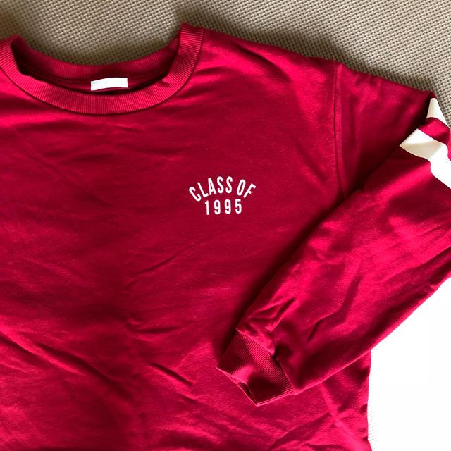 GU(ジーユー)のロゴが可愛い♡赤トレーナー レディースのトップス(トレーナー/スウェット)の商品写真