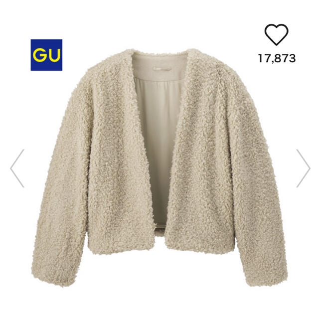 GU(ジーユー)のGU ボアブルゾン レディースのジャケット/アウター(ブルゾン)