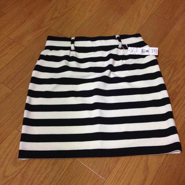 LOWRYS FARM(ローリーズファーム)のボーダータイトスカート♪ レディースのスカート(ミニスカート)の商品写真
