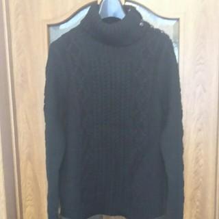 ムジルシリョウヒン(MUJI (無印良品))の本日限りお値下げ  無印良品  新品タグ付き ケーブル編みセーター(ニット/セーター)