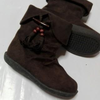 シマムラ(しまむら)のブーツ19cm ダークブラウン(ブーツ)