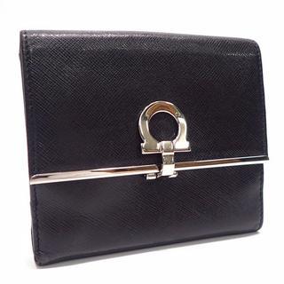 サルヴァトーレフェラガモ(Salvatore Ferragamo)のA416 中古 サルヴァトーレ・フェラガモ 二つ折り財布 レザー Wホック ガン(折り財布)