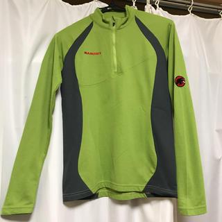 マムート(Mammut)のMAMMUT カットソー ロンT ハーフジップT xs〜s グリーン(Tシャツ(長袖/七分))