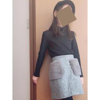 ジーユー(GU)のGU♡完売フェイクファーポケットミニスカート (140)(スカート)