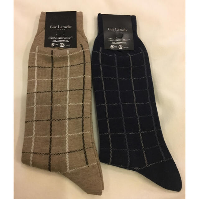 Guy Laroche(ギラロッシュ)の新品 メンズ靴下 Lサイズ  2足 メンズのレッグウェア(ソックス)の商品写真