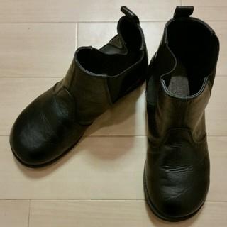 バーバリー(BURBERRY)のバーバリー 子供靴(ブーツ) 黒22.00EE made in China(ブーツ)