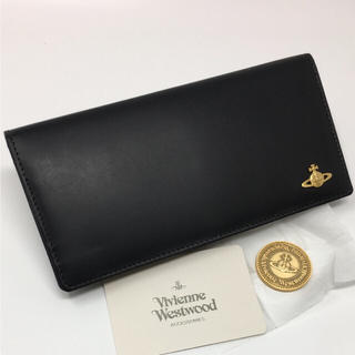 ヴィヴィアンウエストウッド(Vivienne Westwood)の未使用☺︎Vivienne Westwood 長財布 コイン ブラック(財布)