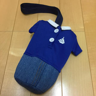 お洋服型ペットボトルケース♡ポロシャツ×デニム(外出用品)