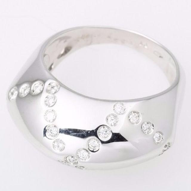 PonteVecchio(ポンテヴェキオ)のPonteVecchio K18WG ダイヤモンド リング 品番B5-544 レディースのアクセサリー(リング(指輪))の商品写真