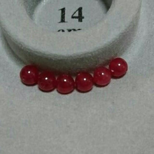 レッドカルサイト6mm ハンドメイドの素材/材料(各種パーツ)の商品写真
