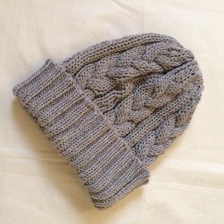 ケービーエフ(KBF)のKBF ケービーエフ ケーブル編みニット帽(ニット帽/ビーニー)