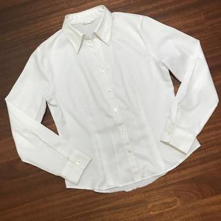 シマムラ(しまむら)の白シャツ  しまむら  M  スキッパー  格安(シャツ/ブラウス(長袖/七分))