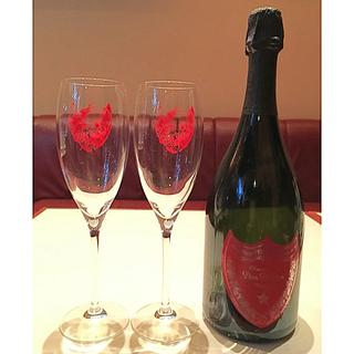 ドンペリニヨン(Dom Pérignon)の【非売品】ドンペリ*アンディウォーホル*シャンパングラス*ダミーボトルセット(グラス/カップ)