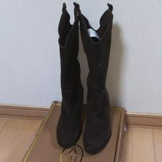 アッシュ(ASH)のASHアッシュスエードロングブーツ38(24㎝)新品未使用箱付き(ブーツ)