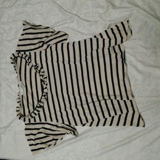 ミスティウーマン(mysty woman)のフリル付きフレアトップス(カットソー(半袖/袖なし))